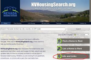 NVHousingSearch.org Information and Links Pages
